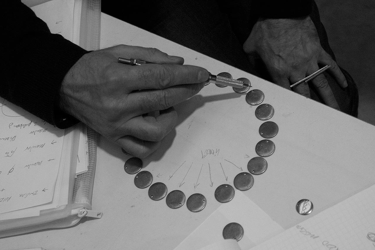 Chus Burés designing, Madrid, 2014