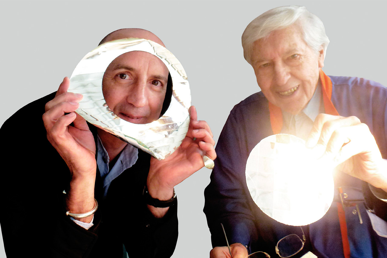 Julio Le Parc with Chus Burés, Paris, 2012